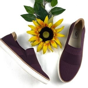 UGG Sammy Slip On Sneakers Burgundy Shoes
